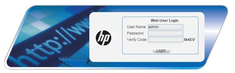 HP Switch Login