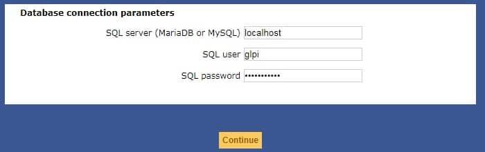 glpi database