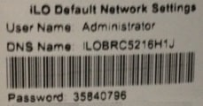 hp ilo password tag
