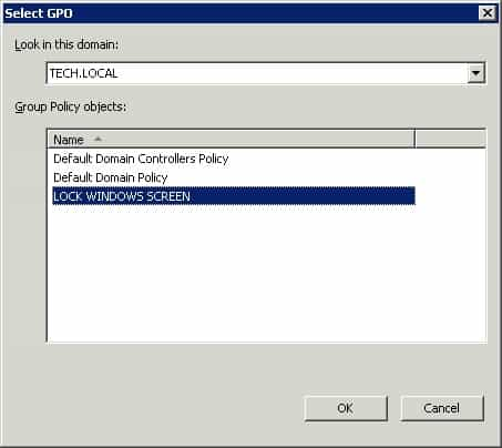 Windows 2008 - Applying Lock windows screen gpo