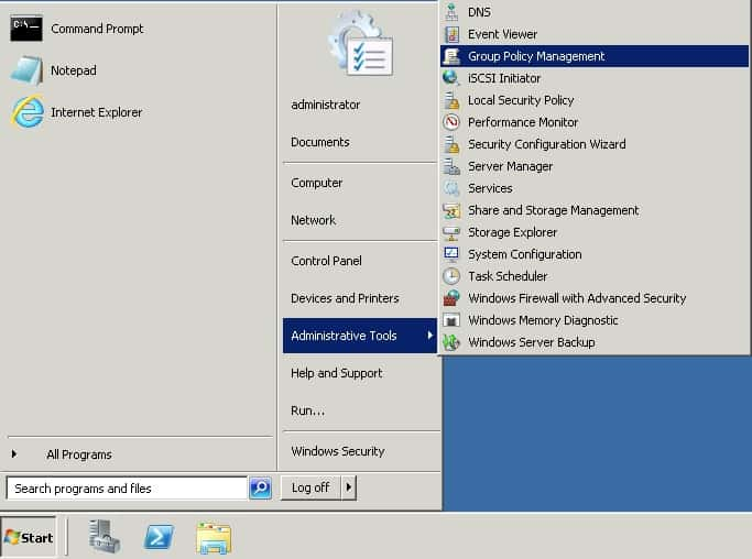 Windows 2008 - Group Policy Management