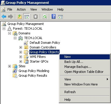 Windows 2008 - Group Policy Objects