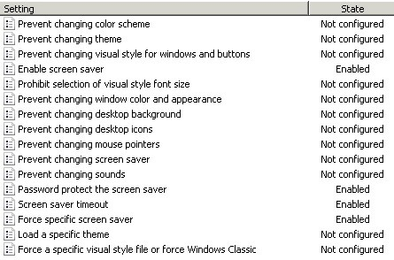 Windows 2008 - Lock windows screen summary