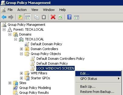 Windows 2008 - edit lock screen gpo