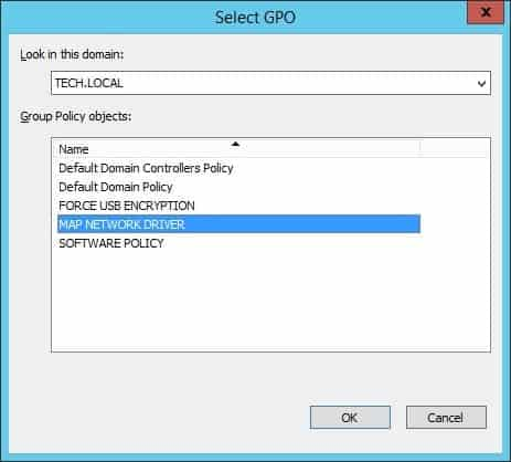 gpo map network drive automatically