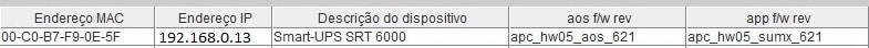 APC UPS IP address result