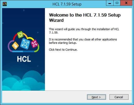 HCL Setup Screen