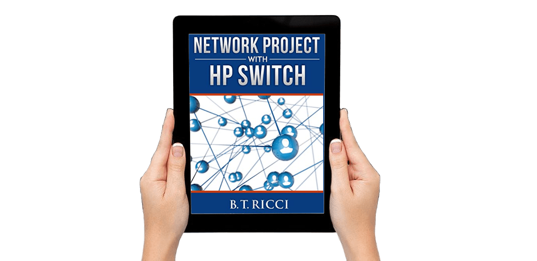 HP Switch Book on tablet