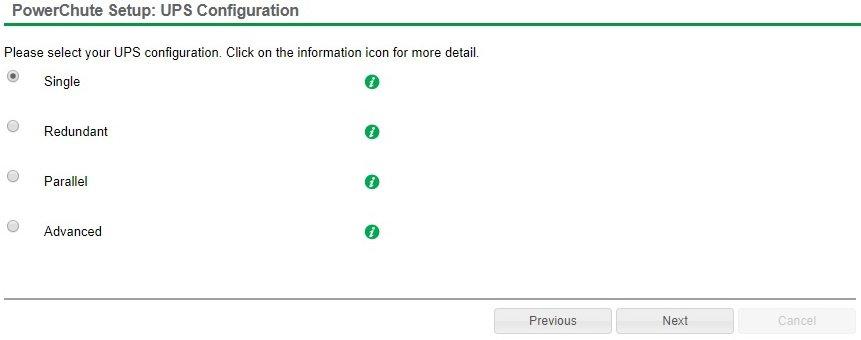 PowerChute UPS Configuration