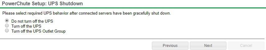PowerChute UPS Shutdown