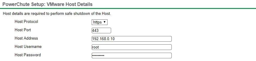 Vmwre Host Detail