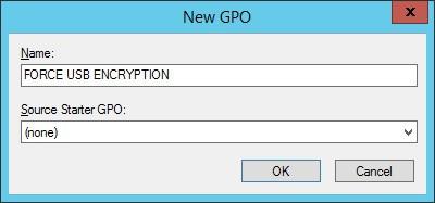 Windows 2012 - GPO Force USB Encryption