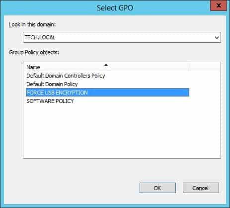 Windows force USB Encryption