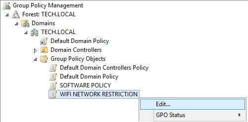 gpo - wifi network restriction configuration
