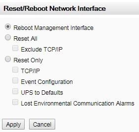 reboot management interface