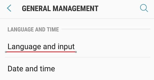 Android Language Input