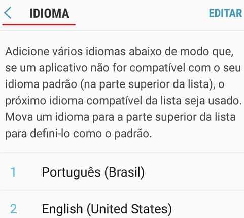 Android language configuration