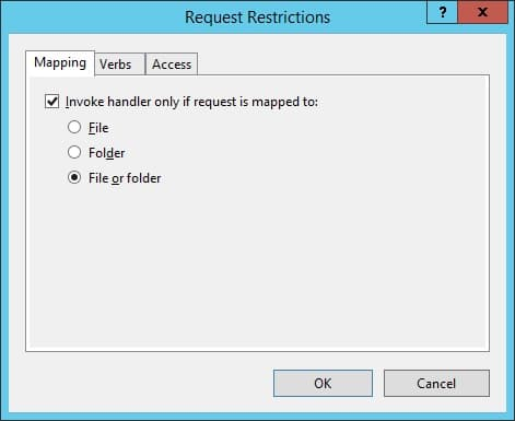 IIS PHP Request Restrictions