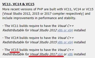 PHP Visual Studio