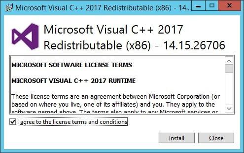 Visual Studio installation x86