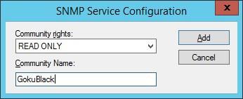 Windows snmp community