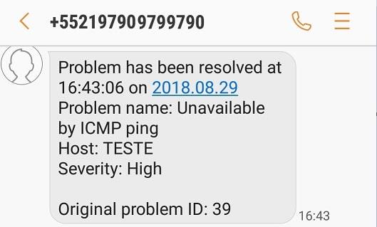 Zabbix SMS