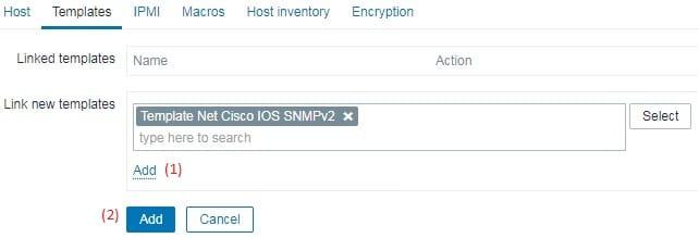 Zabbix SNMP Template
