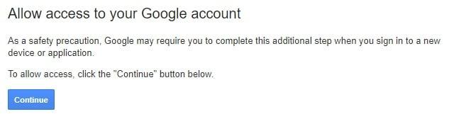 google unlock account