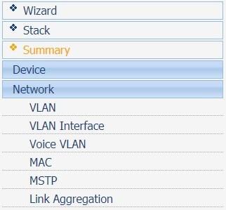 hp switch link aggregation menu