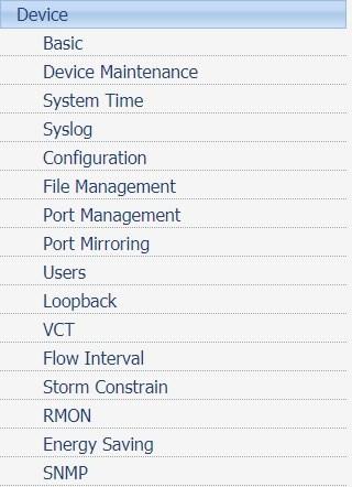 hp switch snmp menu