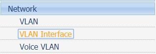 hp switch vlan interface menu