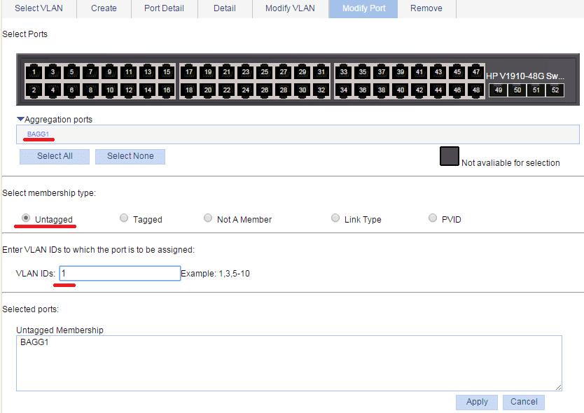 link aggregation native vlan