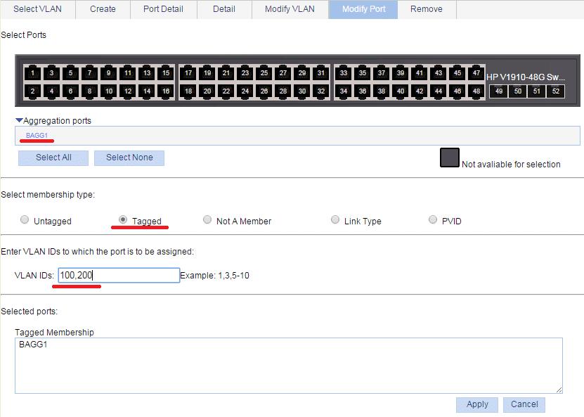 link aggregation vlan