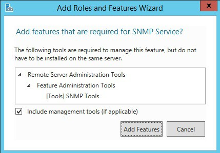 windows 2012 install snmp feature