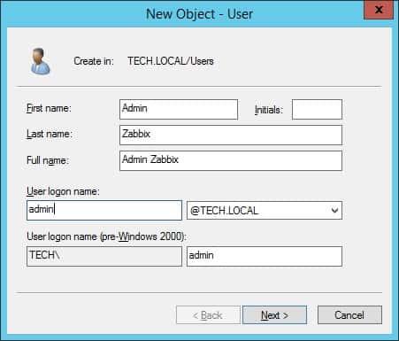 zabbix active directory admin