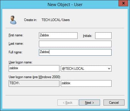 zabbix active directory ldap bind