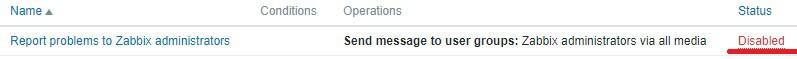 zabbix enable email notification