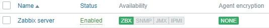 zabbix host enabled