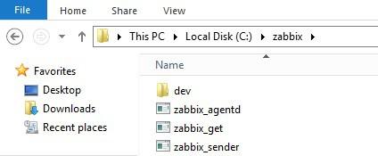zabbix installation windows