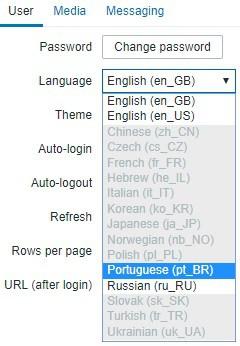 zabbix language