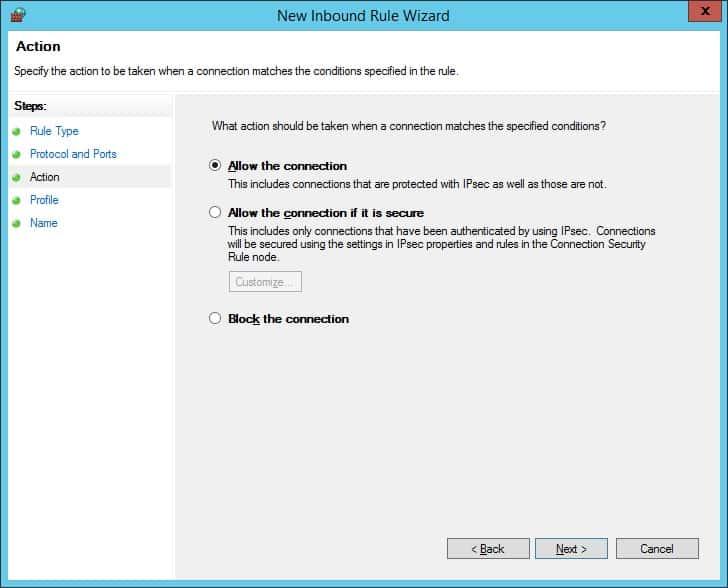 zabbix windows firewall allow connection