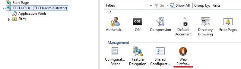 IIS web platform installer
