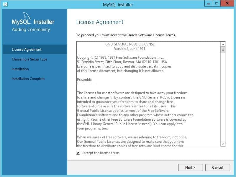 MySQL Installation Windows