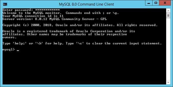 MySQL Windows Command-line