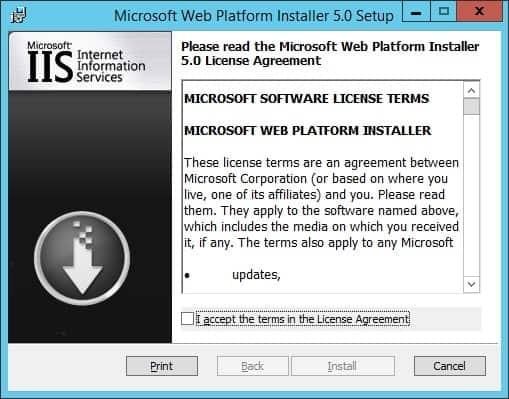 Web installer start