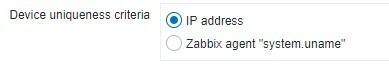 Zabbix Device Discovery Uniqueness Criteria