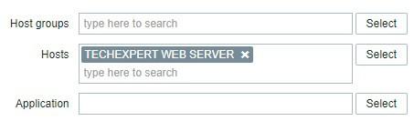 Zabbix TCP Service Filter