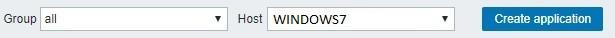 Zabbix Windows7 Application