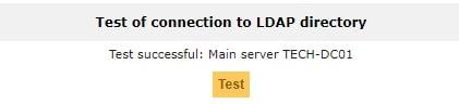 GLPI Ldap test