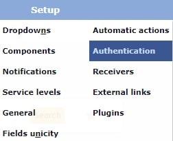 GLPI Setup Authentication
